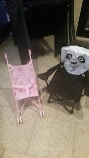 Toy pram, sleeping wedge, kids camping chair, mobile, baby gym Beaconsfield Fremantle Area Preview