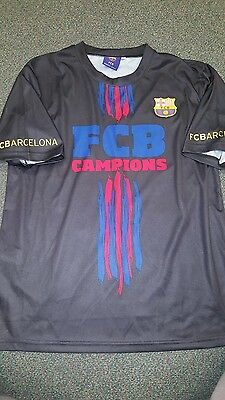"""FCB Champions Barcelona """"Més Que Un Club"""" Two Sided Jersey Shirt Men's S Small"""
