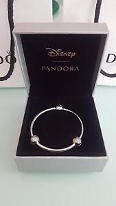 $185 Brand New Limited Edition Mickey Mouse bracelet and 2 clips. Durack Brisbane South West Preview