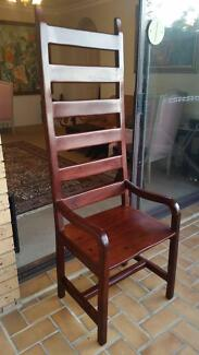 High Back Chair - Solid Rhodesian Teak Coogee Eastern Suburbs Preview