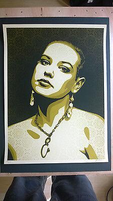 "Shepard Fairey "" Jessica"" 2009 Edition 475 18x24 inch"