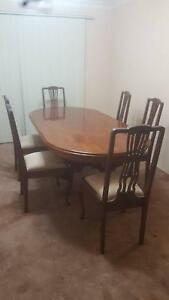 Antique high back Dining chairs and Bonus Table Gosford Gosford Area Preview