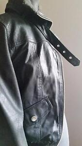 Womens Black Leather Jacket - small / medium Coorparoo Brisbane South East Preview