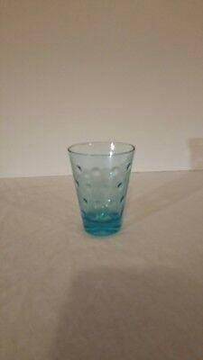 "Vtg Northwood/Fenton Inverted Blue Coin Dot  Glass 3 3/4"""