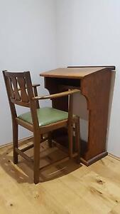 Antique Desk & Chair - South African Sentiment - University of Clarkson Wanneroo Area Preview