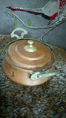 Arts and Crafts copper/brass lidded pot with handles