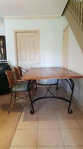 Wrought Iron base Dining Table and Chairs. Hornsby Hornsby Area Preview