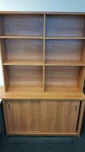 Office cupboard with hutch Mango Hill Pine Rivers Area Preview