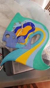 Beautiful artistic fish clock Currumbin Waters Gold Coast South Preview