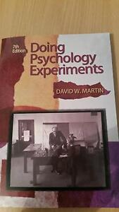 Doing psychological experiments, 7th edition Eden Hill Bassendean Area Preview