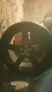 """22"""" inch matte black rims fits Porsche cayenne, vw and more Caringbah Sutherland Area Preview"""