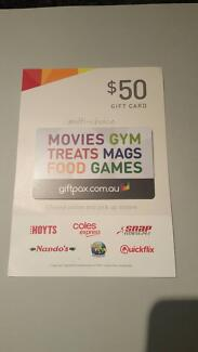 $50 GiftPax Voucher available for Sale -VALID TILL THE 31.07.2018