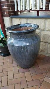Extra Large Tall Black/Gray Glazed Pot Planter Urn Indoor/Outdoor Strathfield Strathfield Area Preview