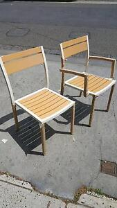 5 x Bahamas Polywood Timber Outdoor Chairs Albert Park Port Phillip Preview