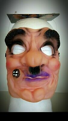 Halloween Mask Guido Mafia Man Funny Scary It The 70's / 80's Bank Robber Type
