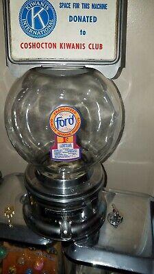 KIWANIS 1950s model Ford gumball machine penny glass globe lock & key 052591
