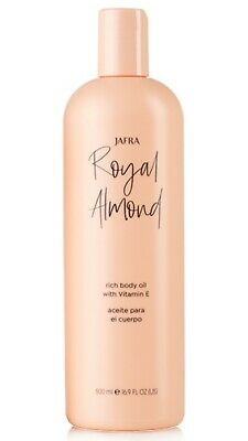 Jafra Royal Almond Rich Body Oil With Vitamin E SPECIAL SIZE *16.9 OZ* Brand New