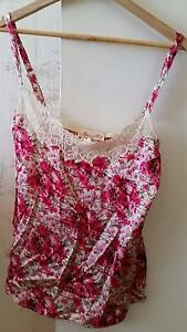 "Alannah Hill ""Flirt To Kill!"" lace trim floral silk cami top 8 Alderley Brisbane North West Preview"