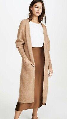 Acne Studios Raya Mohair Long Cardigan Camel Size XS