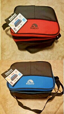 Igloo Cooler Lunch Bag Insulated Zip Closure 6 Can Capacity Adjustable Strap New