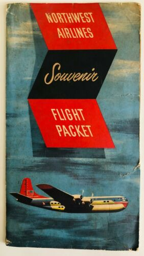 Northwest Airlines Welcome Aboard Flight Packet - 1951