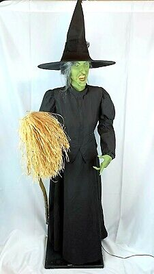 Gemmy Wizard of OZ Wicked Witch Animated Halloween Prop Life Size Motion Sound