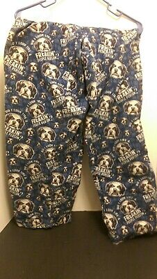 Personalized Mens Pajamas (Big Dogs Mens Large blue pajama Pants do look like a freakin people person sz)