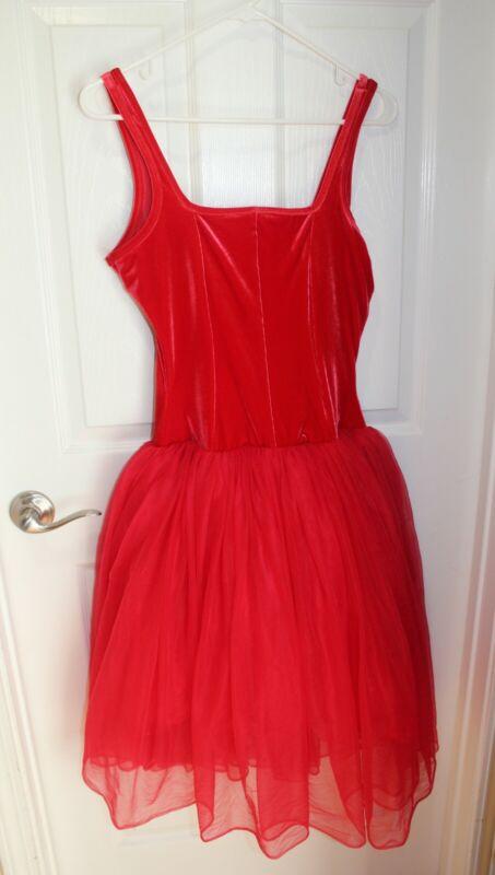 Curtain Call Costumes Dance Ballet Red Romantic Tutu Adult Women