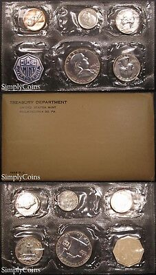 1956 Proof Set ~ Flat Pack Original Envelope ~ US Silver Mint Coin -
