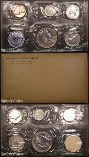 1956 Proof Set ~ Flat Pack Original Envelope ~ US Silver Mint Coin Set