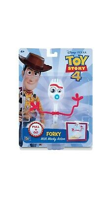 "Disney Pixar Toy Story 4 FORKY 8"" Pull & Go Figure 2019 NEW With Whacky Action!"