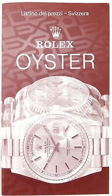 1993 SCARCE ROLEX ITALIAN PRICE LIST. 1350.5-8-7.1993. GREAT REFERENCE GUIDE.
