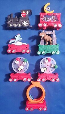 2017 McDonalds Happy Meal Holiday Express Christmas Train Car Set Lot of 7 Toys
