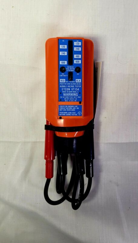 ETCON VT154 AUDIBLE SOLENOID TYPE VOLTAGE TESTER BRAND NEW / OLD STOCK