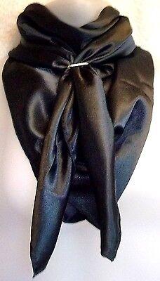 """Wild Rag Scarf Cowboy Western Cowgirl Buckaroo Scarves silky black 36"""""""