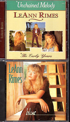 Pair Of Leann Rimes Cds   Unchained Melody And Blue