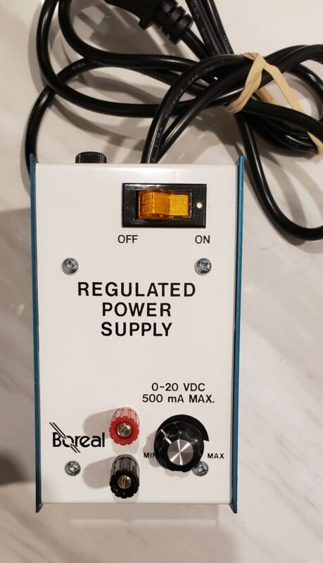 BOREAL Regulated POWER supply 0-20 VDC 500 mA MAX- Model:64250-41- Works 100%