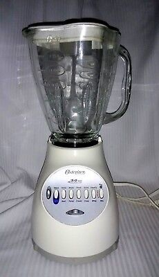 Osterizer 6650 14-Speed BLENDER w/All-metal Drive, 5-cup Glass Bowl w/Feeder Cap