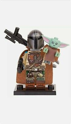 The Mandalorian With Baby Yoda - Star Wars Moc Minifigure Toys Gift