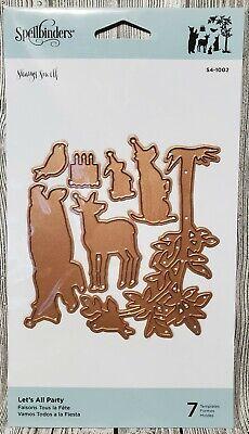 Spellbinders Let's All Party! 7 Template Dies S4-1002 Animal Tree Birthday -