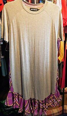 House of Holland Designer Grey& Lilac Ruffle Hem Mini Dress. Size 16.