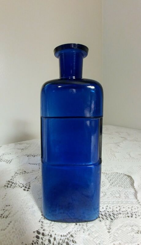 Antique Cobalt Blue Glass Medicine Bottle 1800