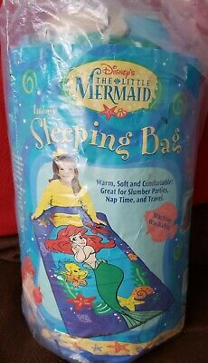 Ariel Sleeping Bag (Vtg Disney Ariel The Little Mermaid Indoor Sleeping Bag Made USA)