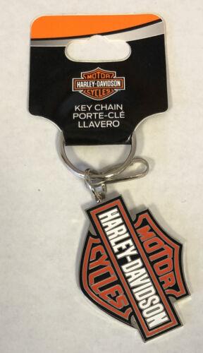 Harley-Davidson Bar & Shield Enamel Metal Key Chain Plasticolor NEW