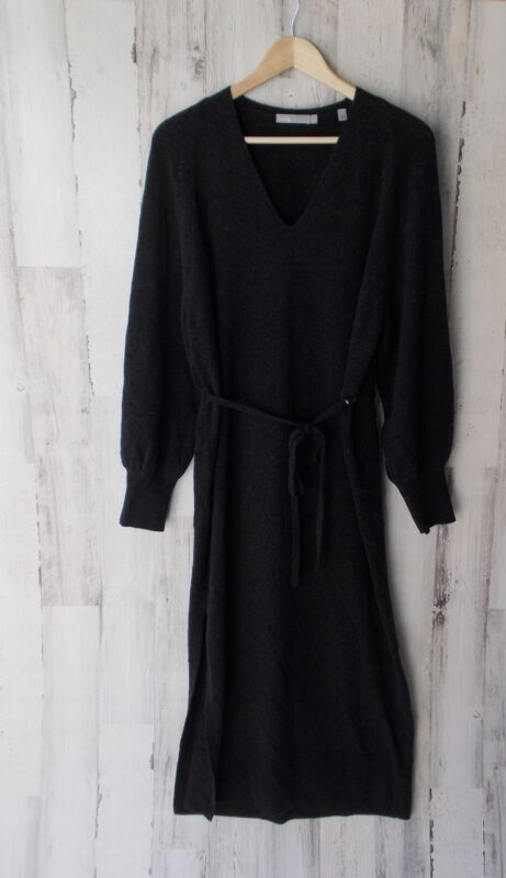 2a6203c23ab NWOT  395 VINCE Side Slit Wool Cashmere Belted Maxi Sweater Dress  V477877780 L