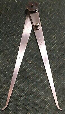 Starrett 12 Inch Lock-joint Inside Caliper 6 With Fine-adjustment No. 39-12