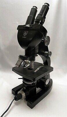 Vintage American Optical Ao Spencer Binocular Stereo Microscope 4 Objectives