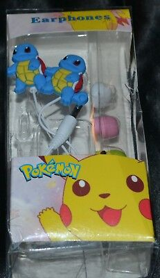 Used, Squirtle Ear Buds Headphones Headset Head Set Phones Head Phones Pokemon Earbuds for sale  Shipping to India