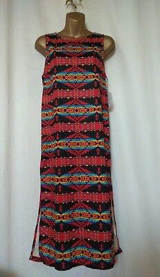 BNWT New Kiss The Sky Summer Dress Top Size Small Aztec Pattern.