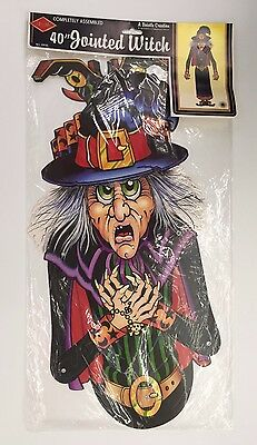 Vintage Beistle 40in Jointed Witch Halloween Decorations 01930 NOS 1988